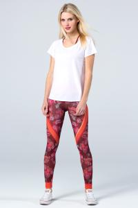 Leggings - Magadi-Designprint Vivid , enges Bein