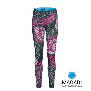 Leggings - Magadi-Designprint Wings , enges Bein