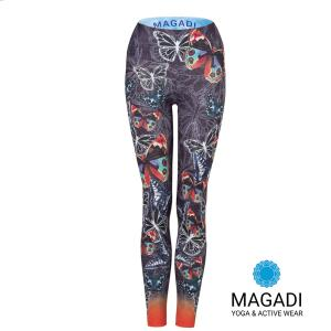 Leggings - Magadi-Designprint Butterfly , enges Bein