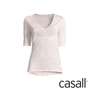 Top - Gathered Front Tee 1/2 Arm