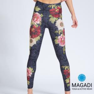 Leggings - Magadi-Designprint Bloom , enges Bein
