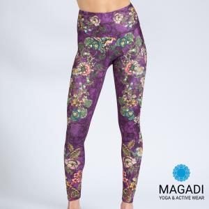 Leggings - Magadi-Designprint Flower History , enges Bein